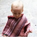 poncho bambina rosa