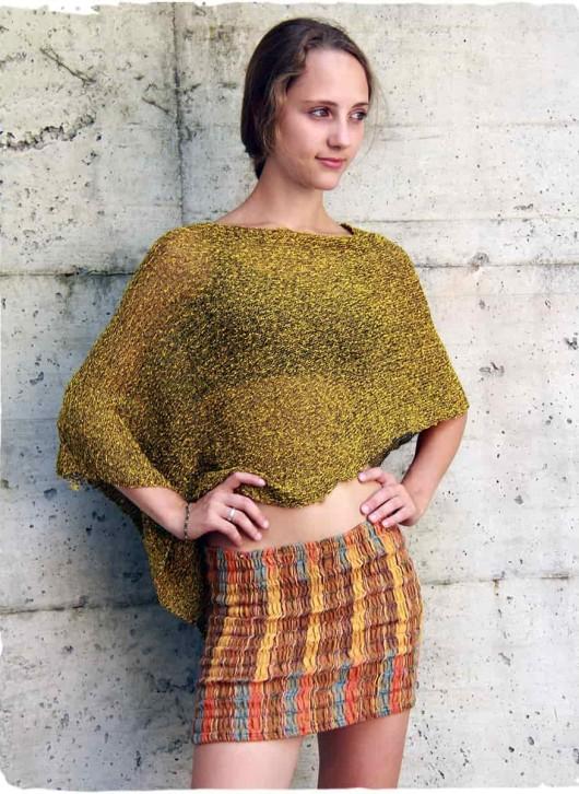 poncho cotone giallo tekila online