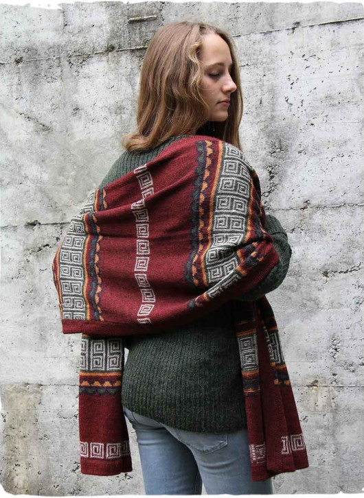 sciarpa di lana d'alpaca stile etnico