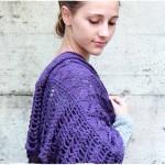 sciarpa in maglia di lana per donna