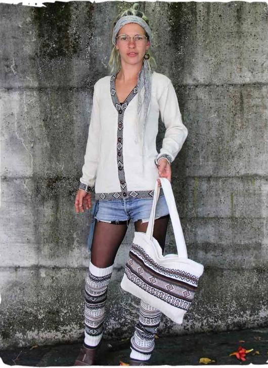 cardigan lana bianco