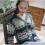 cardigan lana etnico