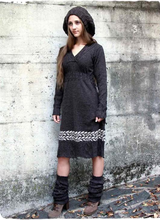 abito lungo in maglia
