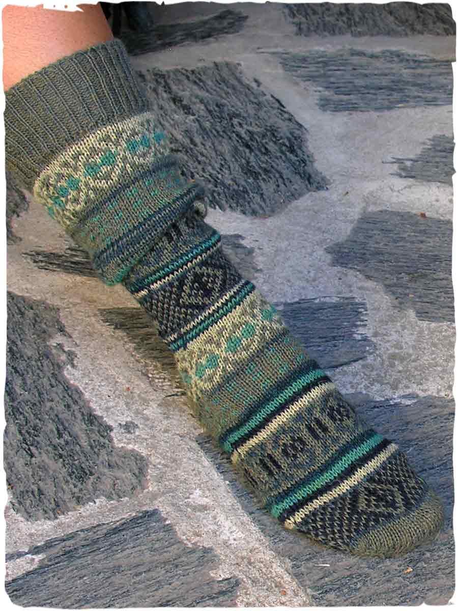 calze di lana fatte a mano